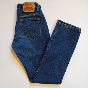 Levi's 505 Medium Wash Straight Leg Jeans Size 7